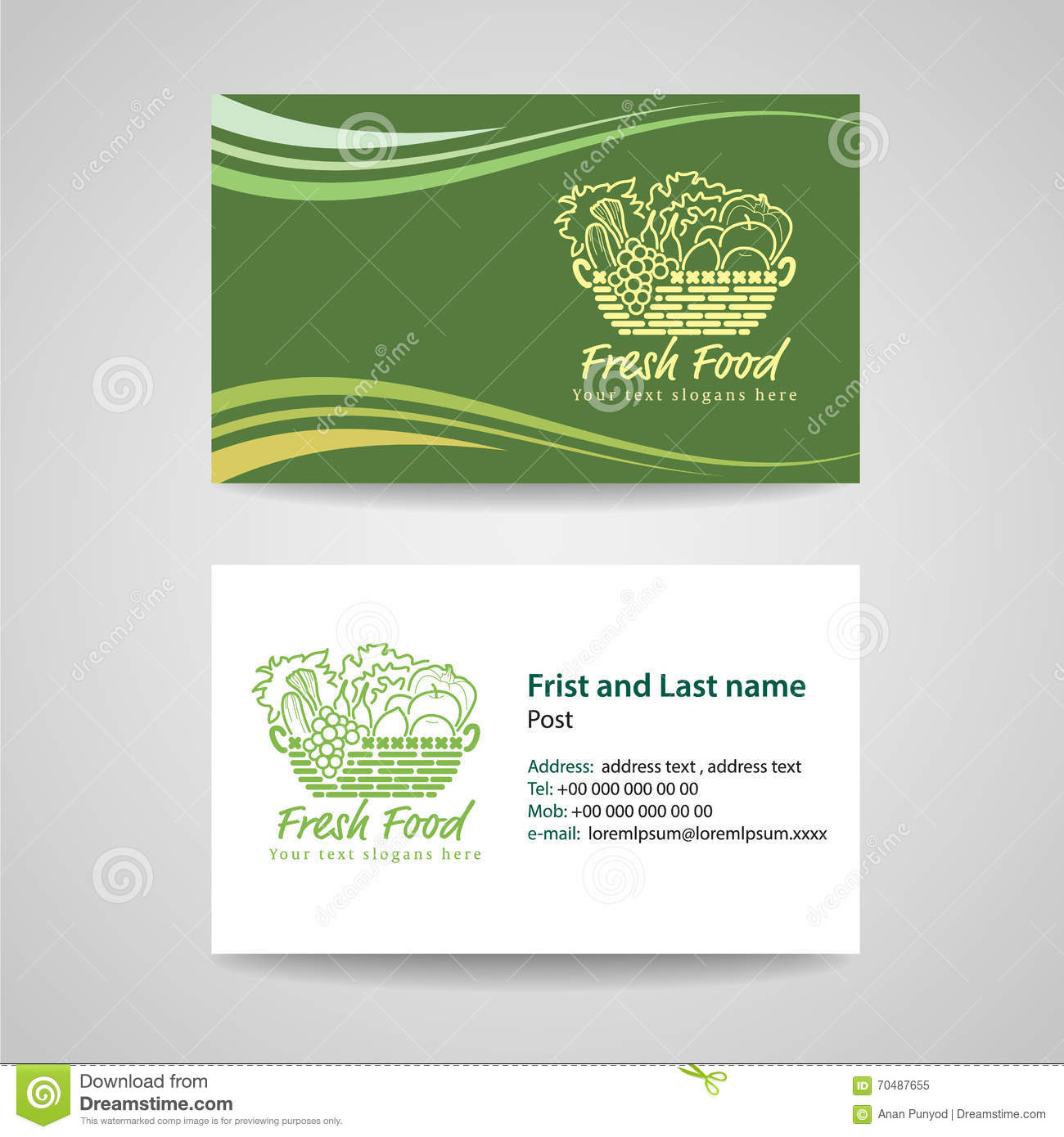 Business card green background stock vector illustration of business card green background royalty free vector reheart Choice Image