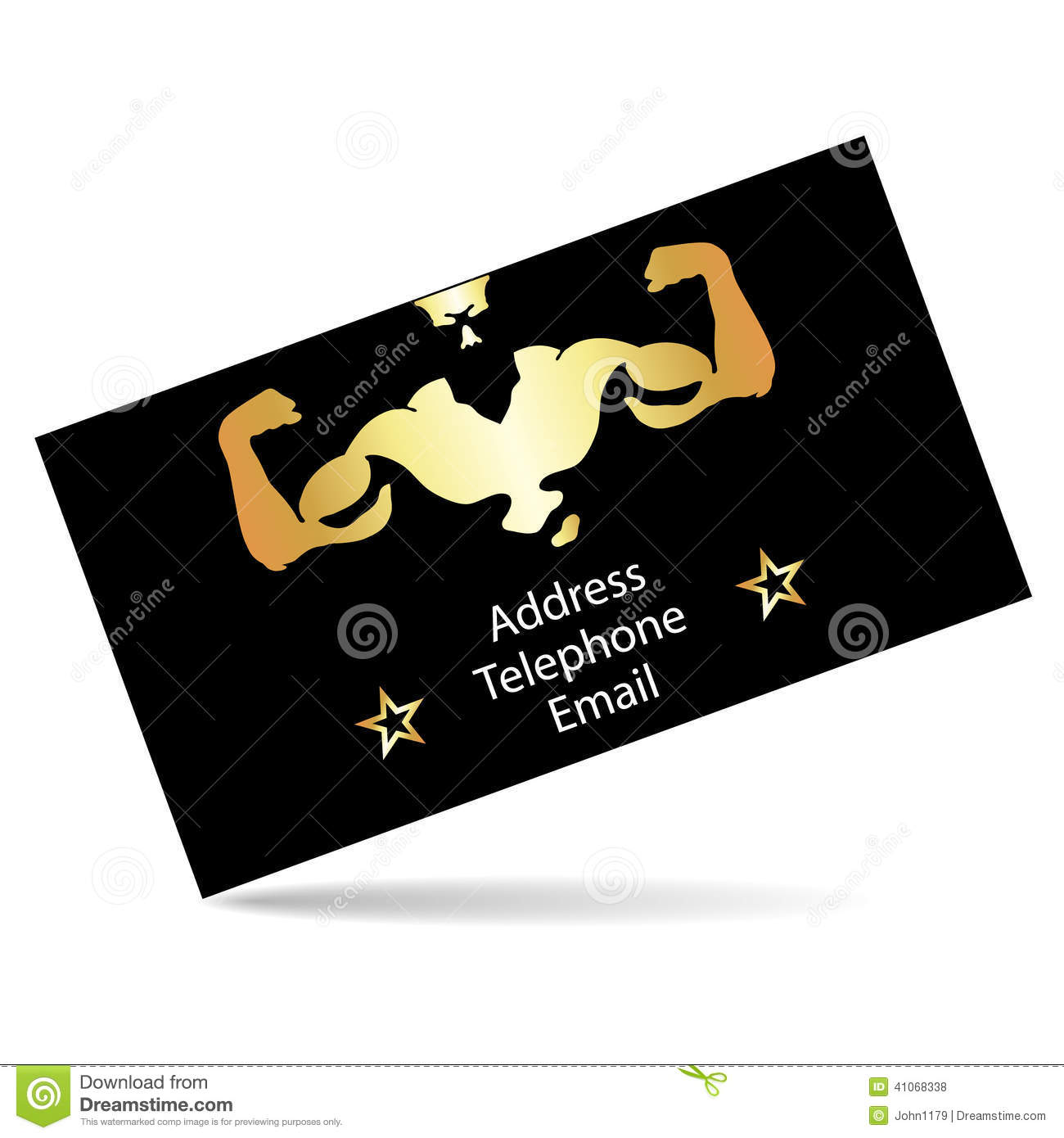 Business card for the gym stock vector illustration of health business card for the gym colourmoves