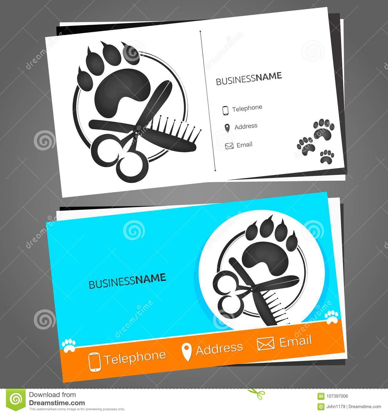 Business card for a hairdresser for pets stock vector illustration download business card for a hairdresser for pets stock vector illustration of comb flat colourmoves
