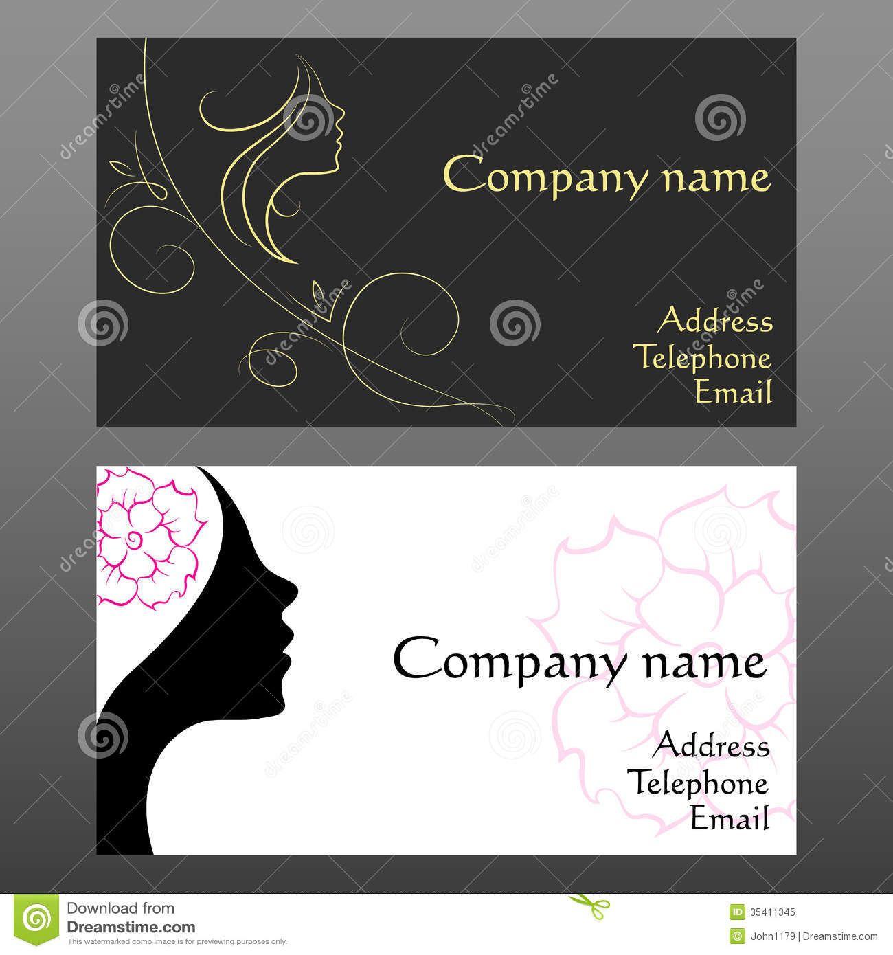Business Card For Hairdressers Stock Vector - Illustration of ...