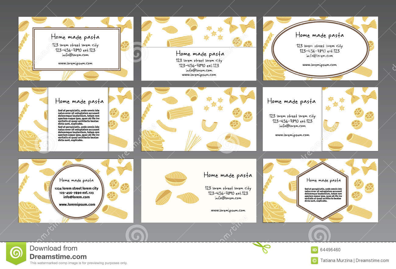 Business card for a home made pasta stock vector illustration of business card for a home made pasta colourmoves