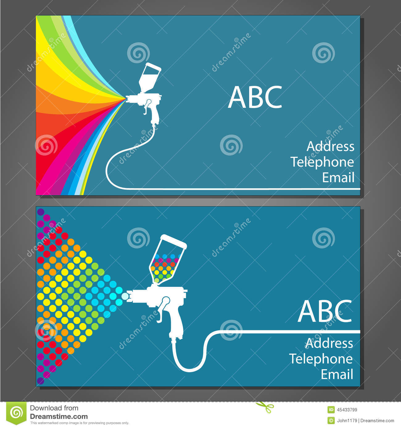Business card for house painter stock vector image 45433799 business card for house painter magicingreecefo Gallery