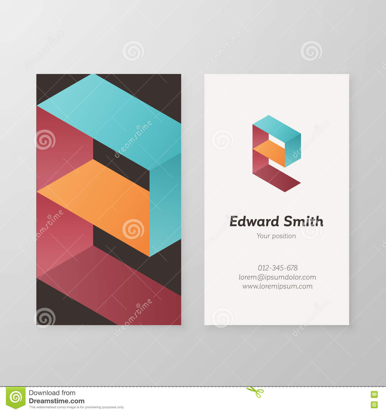 Business card isometric logo letter r template stock vector business card isometric logo letter e template stock photos colourmoves