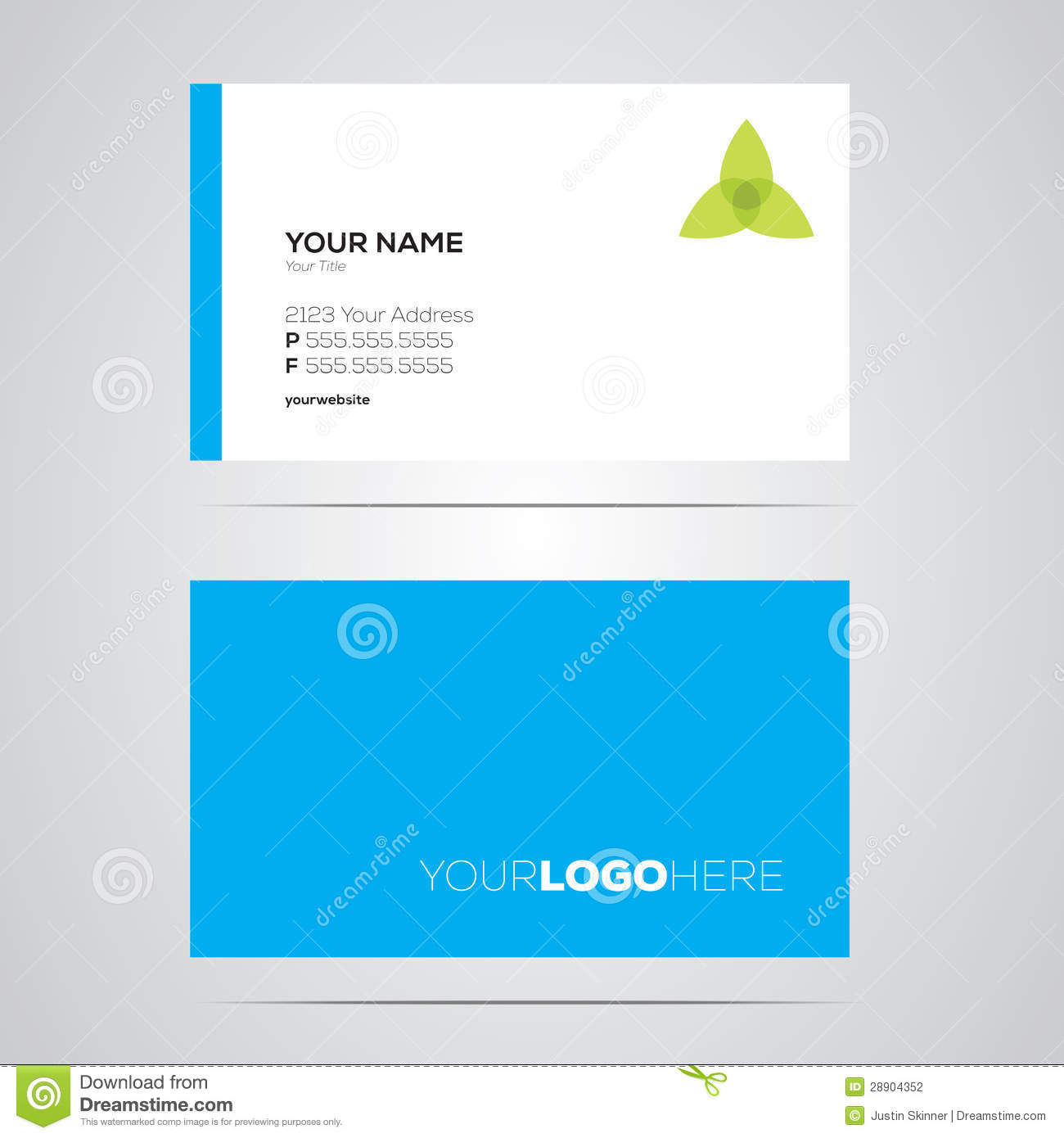 Business Card Layout Stock graphy Image