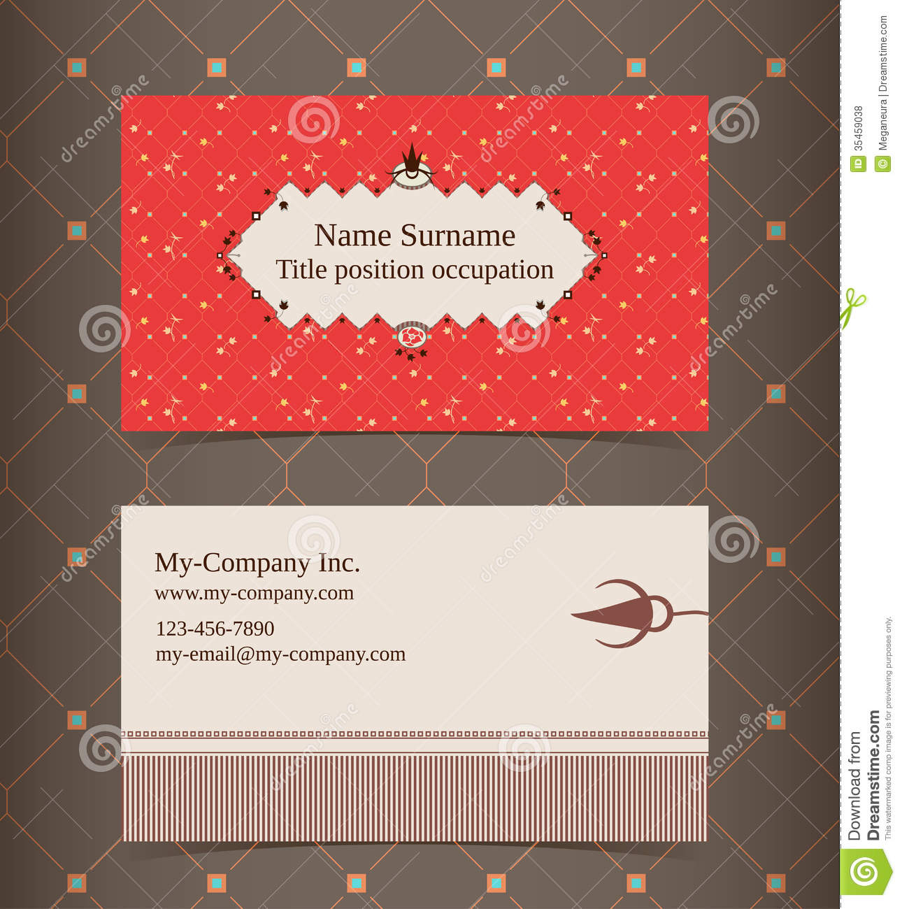 Business Card Layout. Editable Design Template Stock Vector ...
