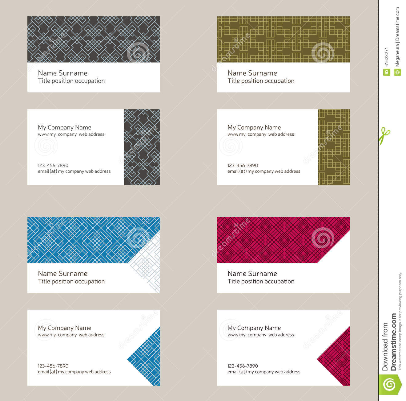 Business card layout linear geometric pattern editable design business card layout linear geometric pattern editable design magicingreecefo Choice Image