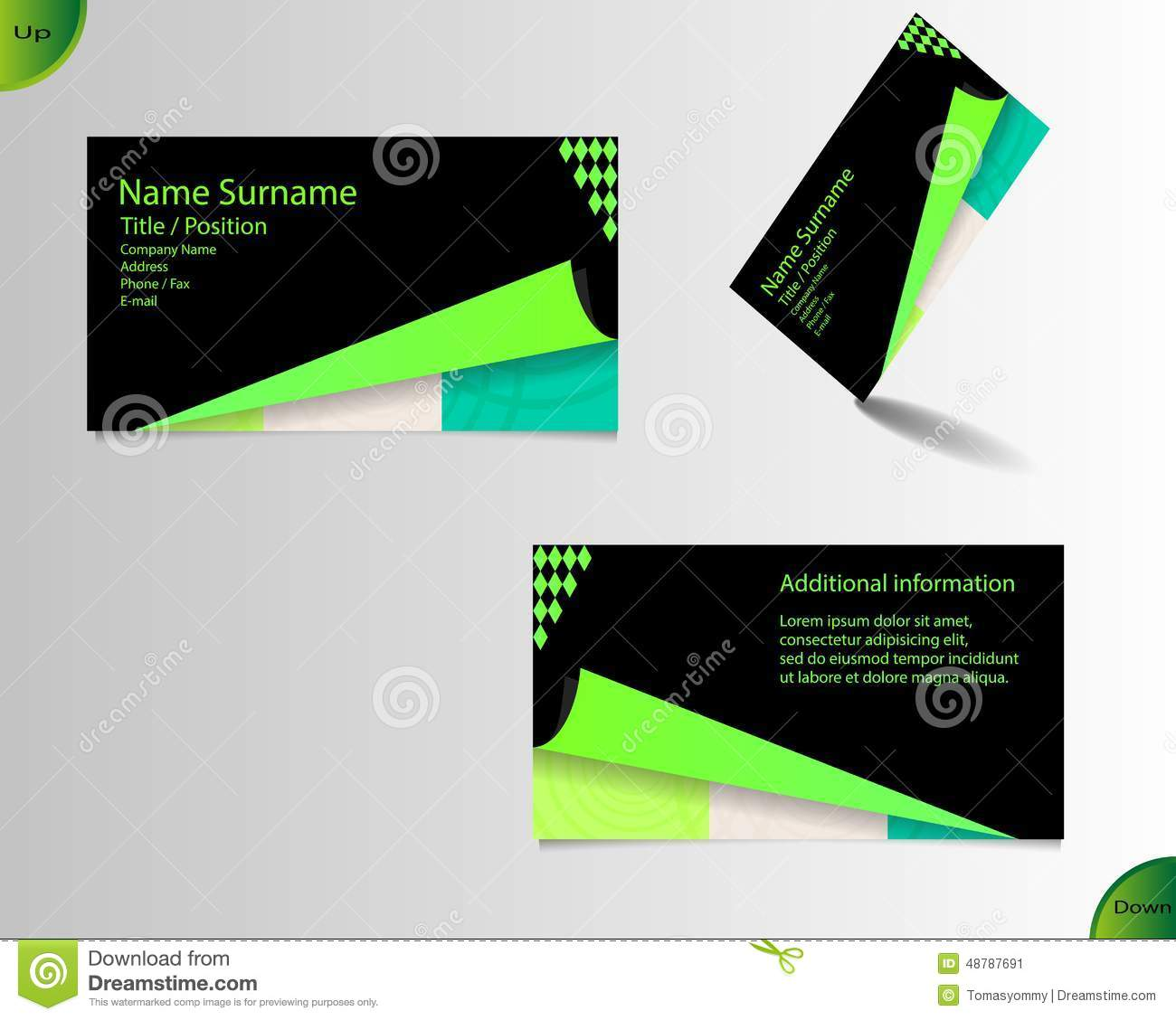 Business card layout stock vector. Illustration of folded - 48787691