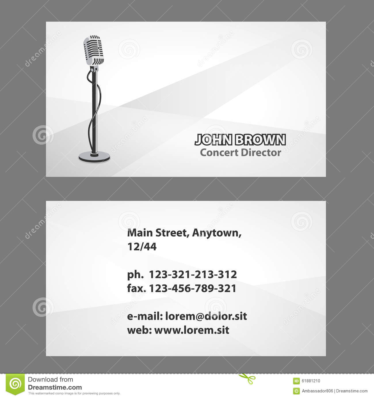 Business card with microphone stock photo image 61881210 royalty free stock photo download business card magicingreecefo Choice Image
