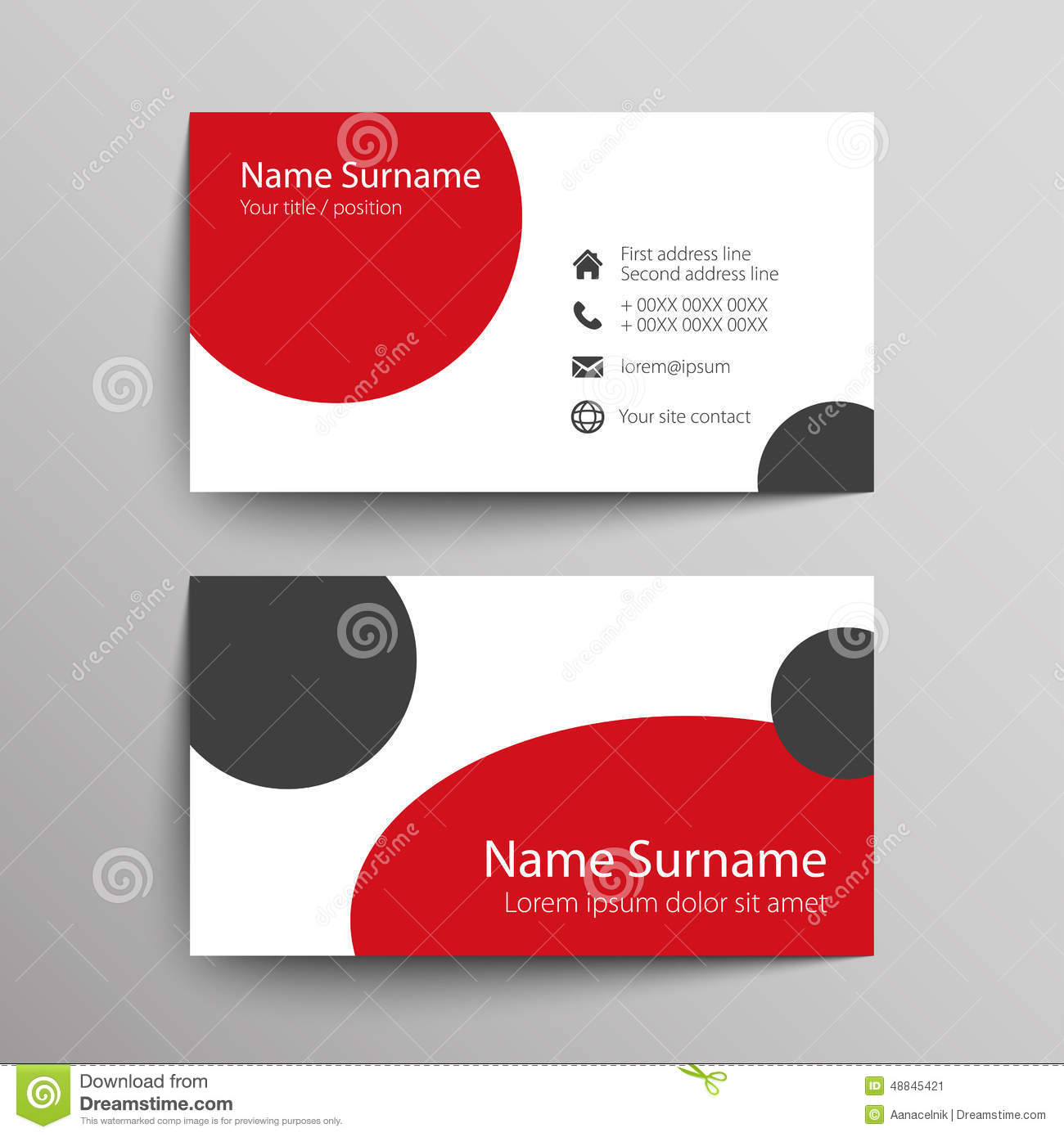 Business Card Stock Vector Image