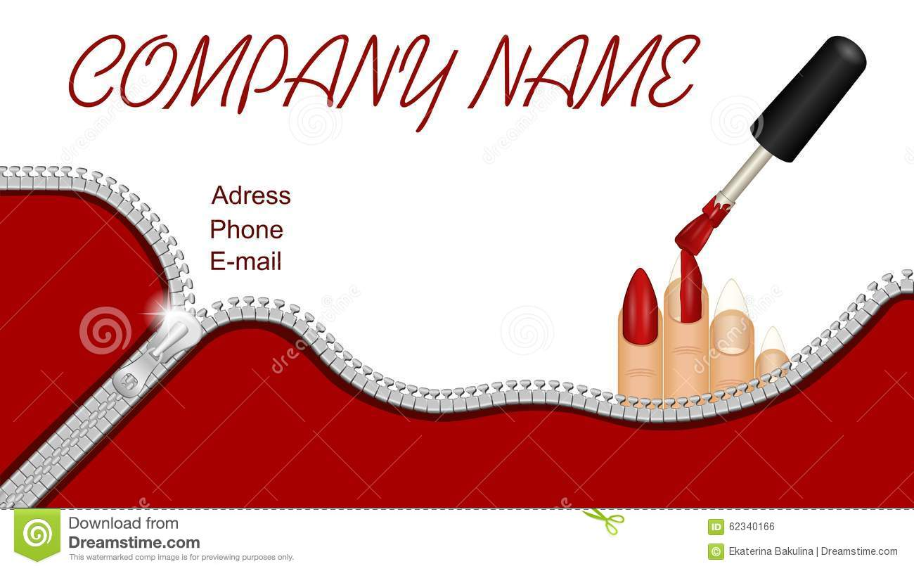 Business Card For Nail Salon Stock Illustration - Illustration of ...