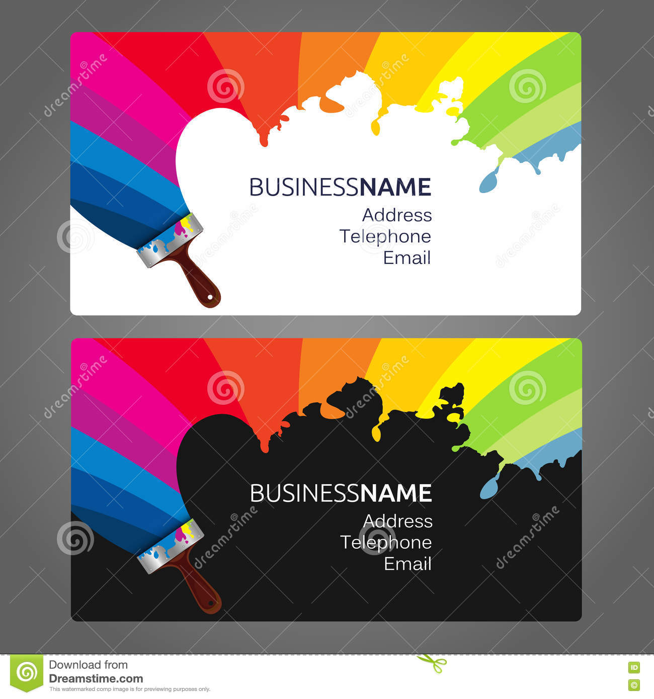 Business card Paint stock vector. Illustration of decorative - 76913685