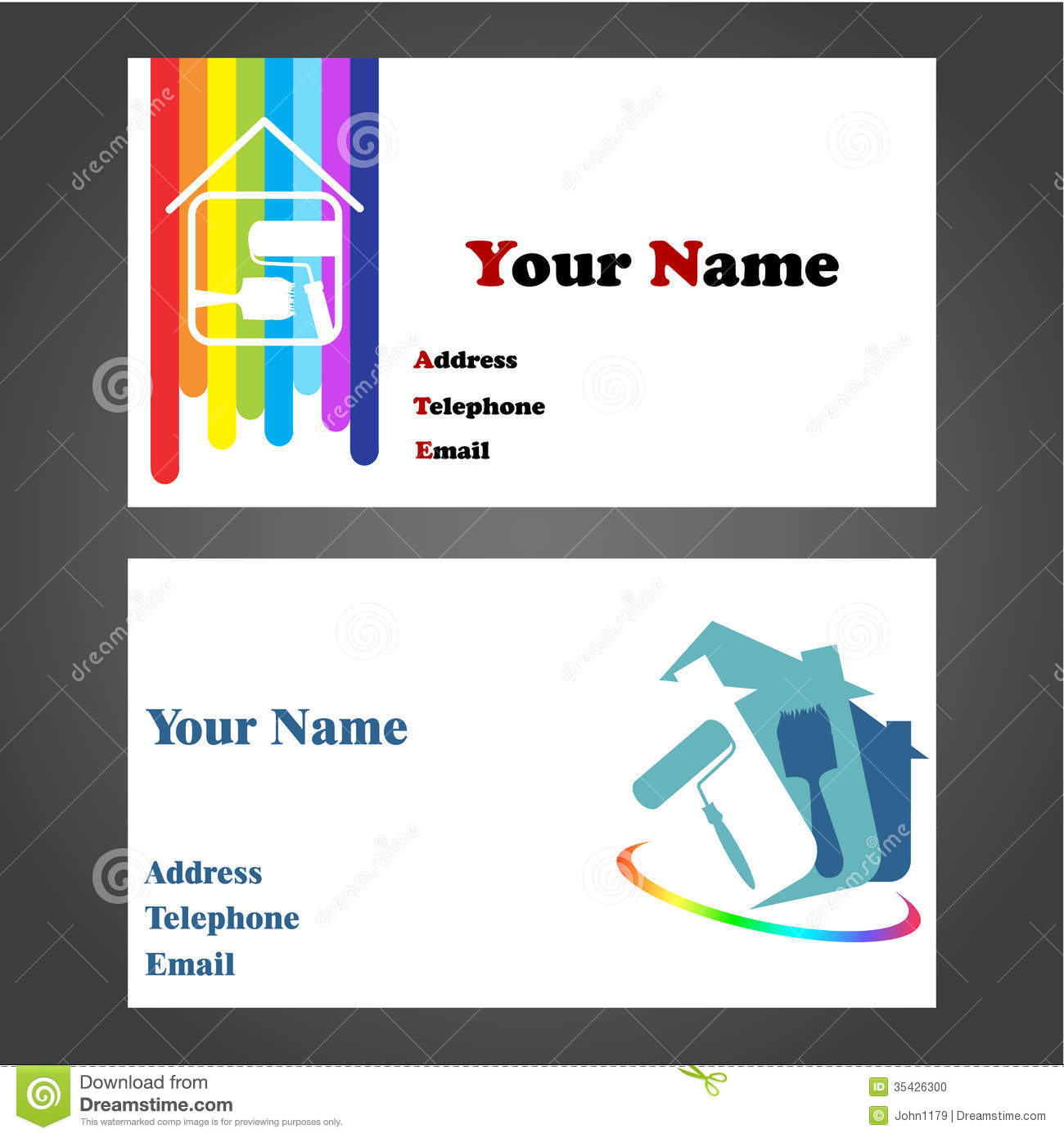 Business card painter stock photo image 35426300 royalty free stock photo download business card painter magicingreecefo Gallery