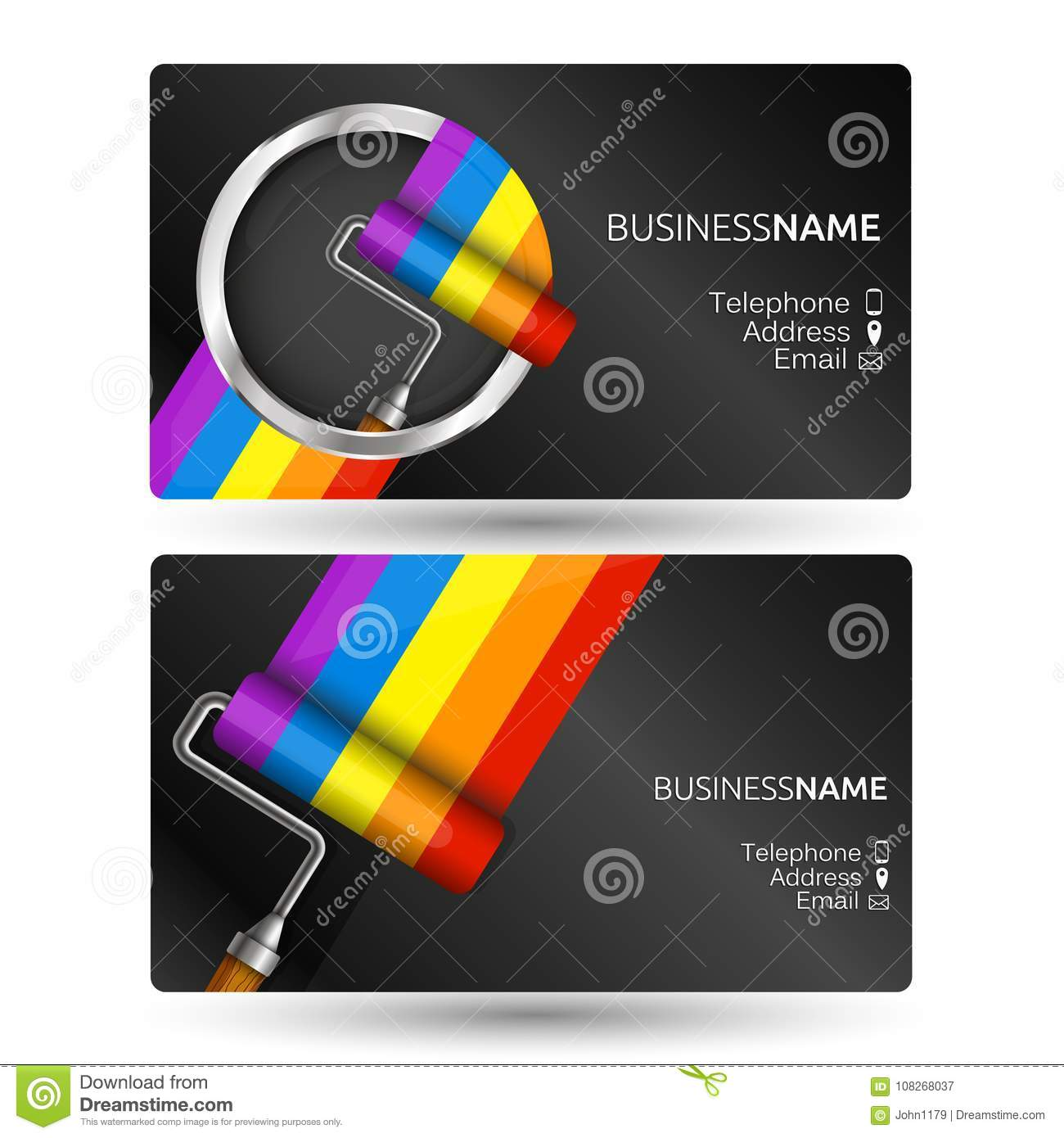 Painting business card concept stock vector illustration of print download painting business card concept stock vector illustration of print painter 108268037 colourmoves