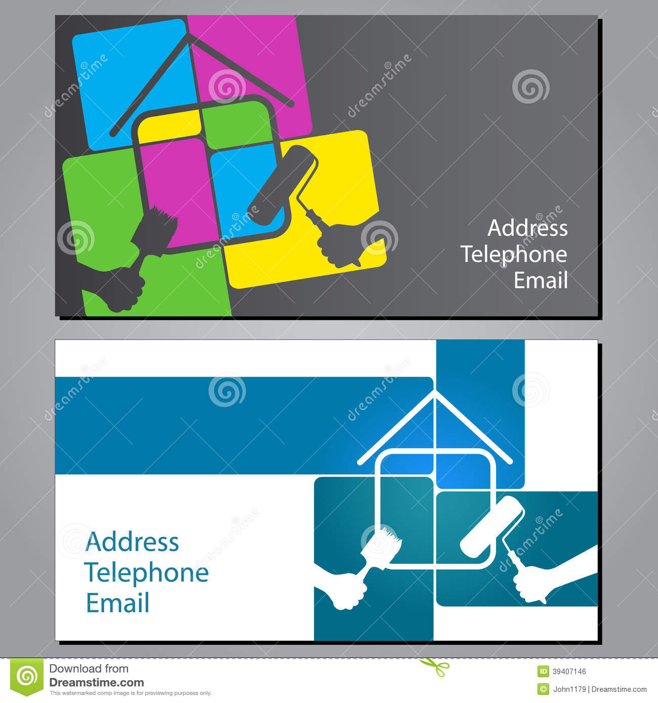 Business card for painting houses