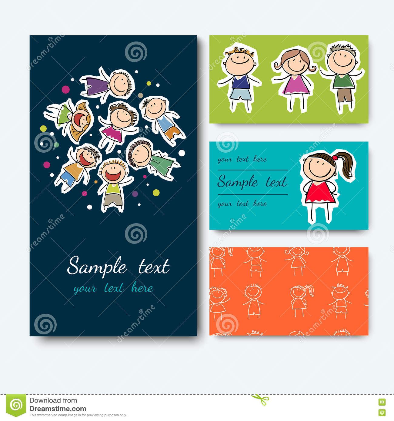 Business card with a picture of children stock vector illustration download business card with a picture of children stock vector illustration of cartoon international reheart Gallery