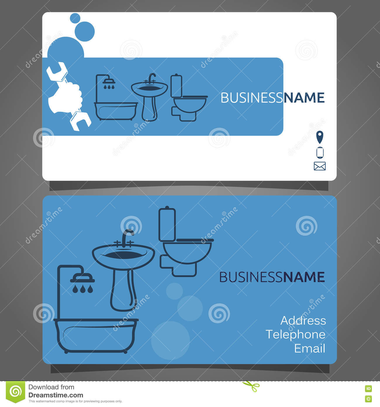 Business card for plumbing services stock vector illustration of download business card for plumbing services stock vector illustration of concept professional 79587840 colourmoves