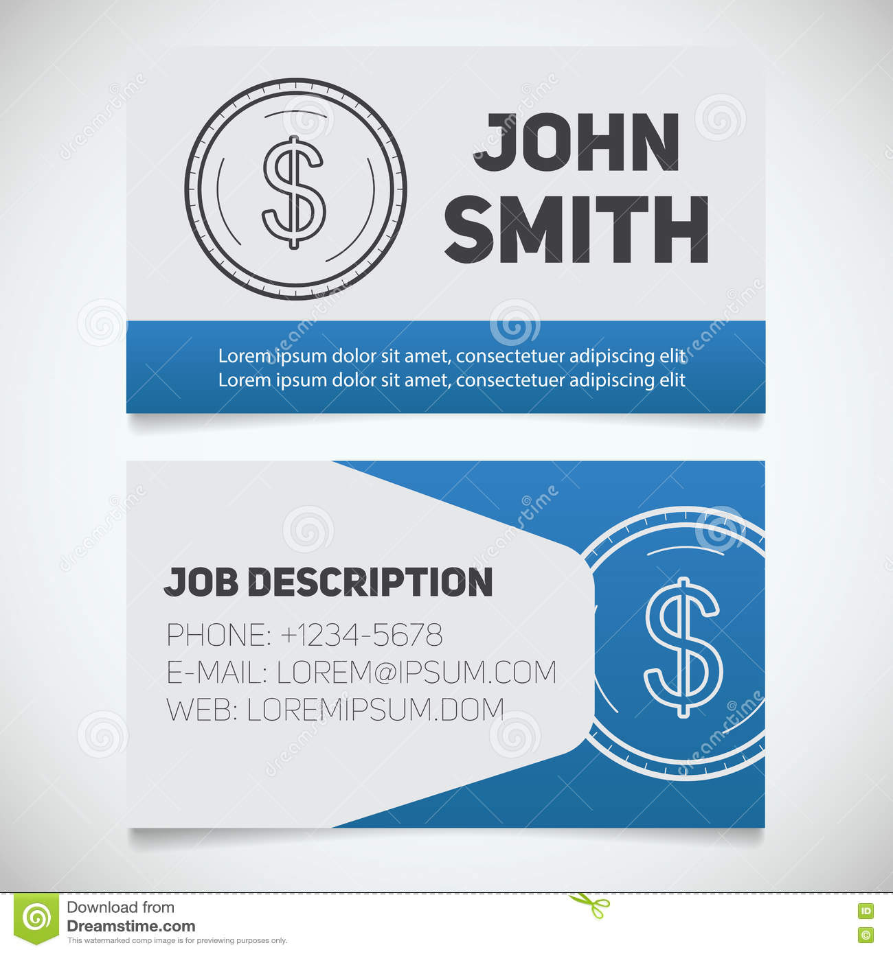 Business card print template with dollar coin logo stock vector download business card print template with dollar coin logo stock vector illustration of emblem reheart Gallery