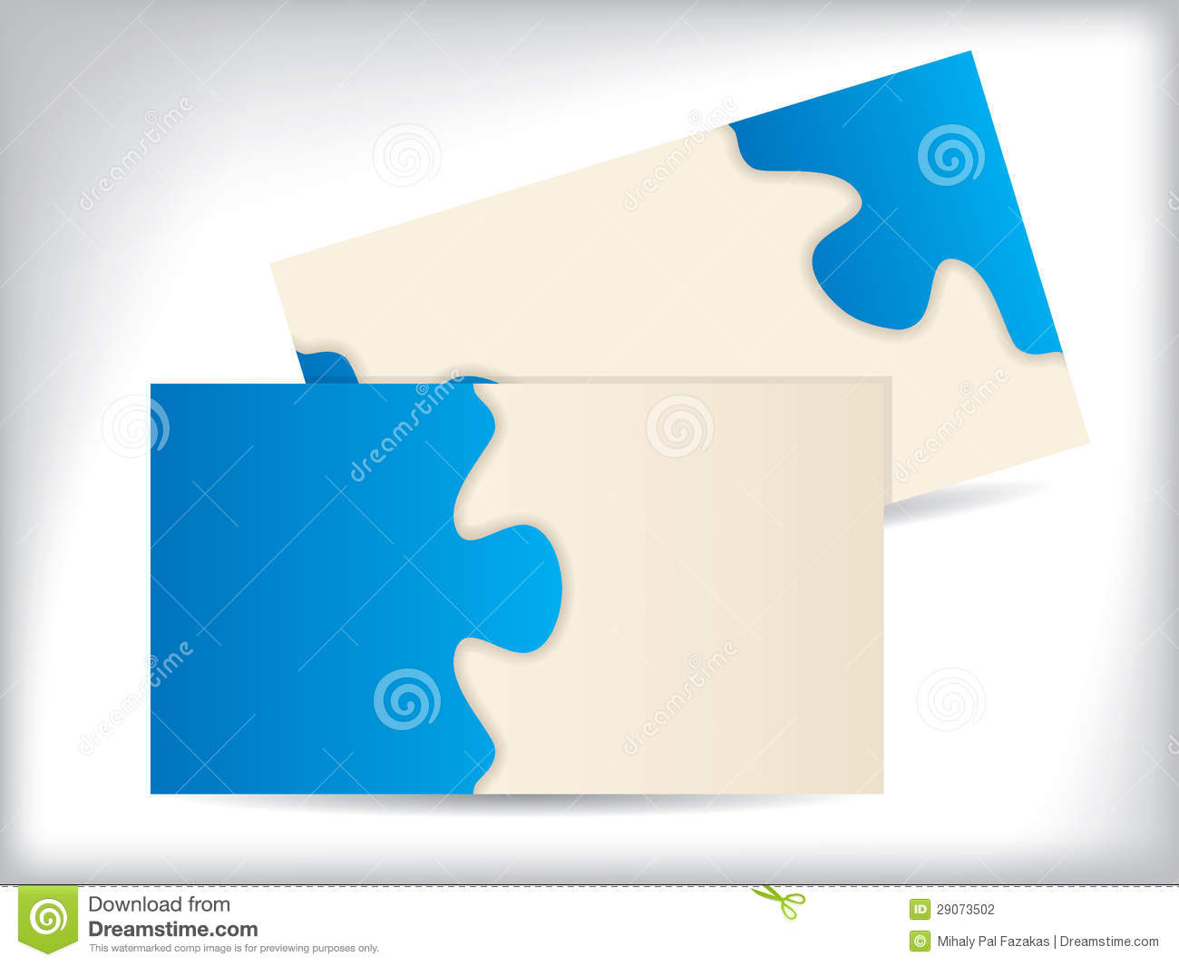 Popular Business Card With Puzzle Design Stock Vector - Illustration of  VX39