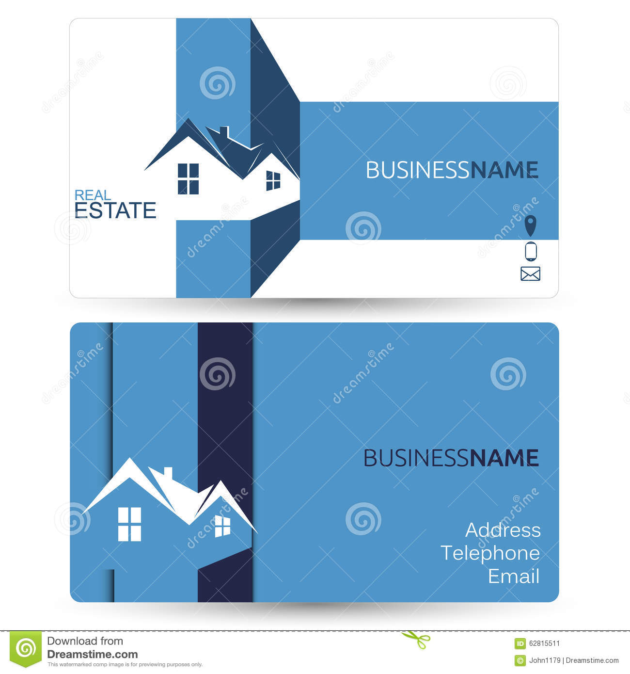 Business card for real estate stock vector illustration of house download business card for real estate stock vector illustration of house blue 62815511 reheart Images