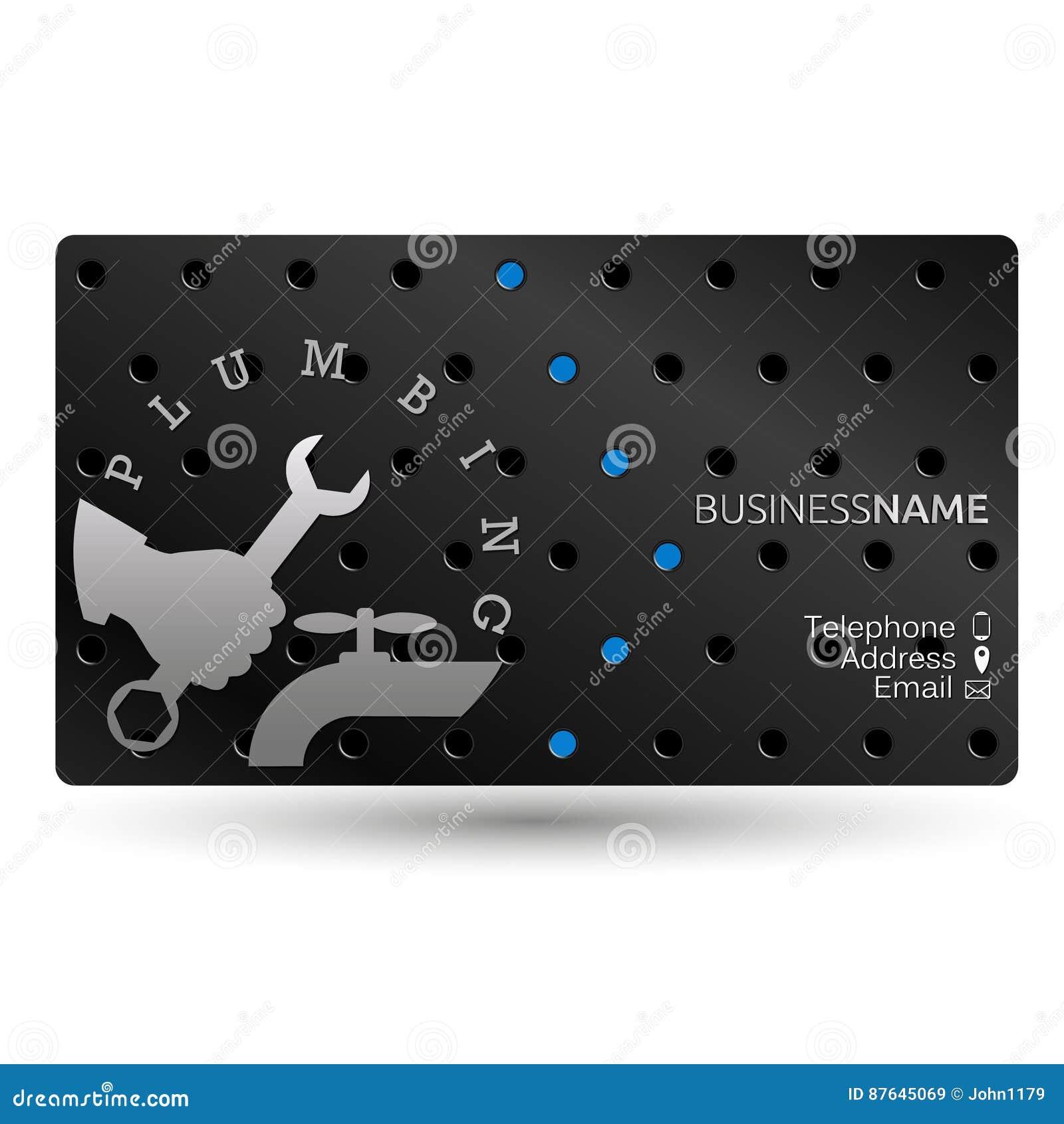 Business Card Repair Plumbing Stock Vector Image 87645069