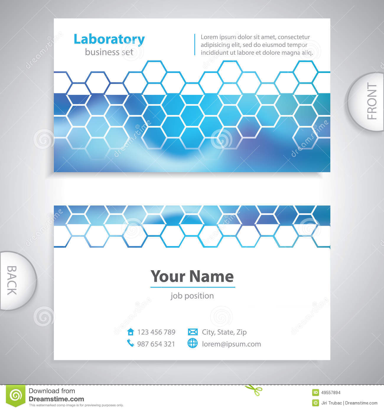 Business Card Science And Research Chemical Formulas