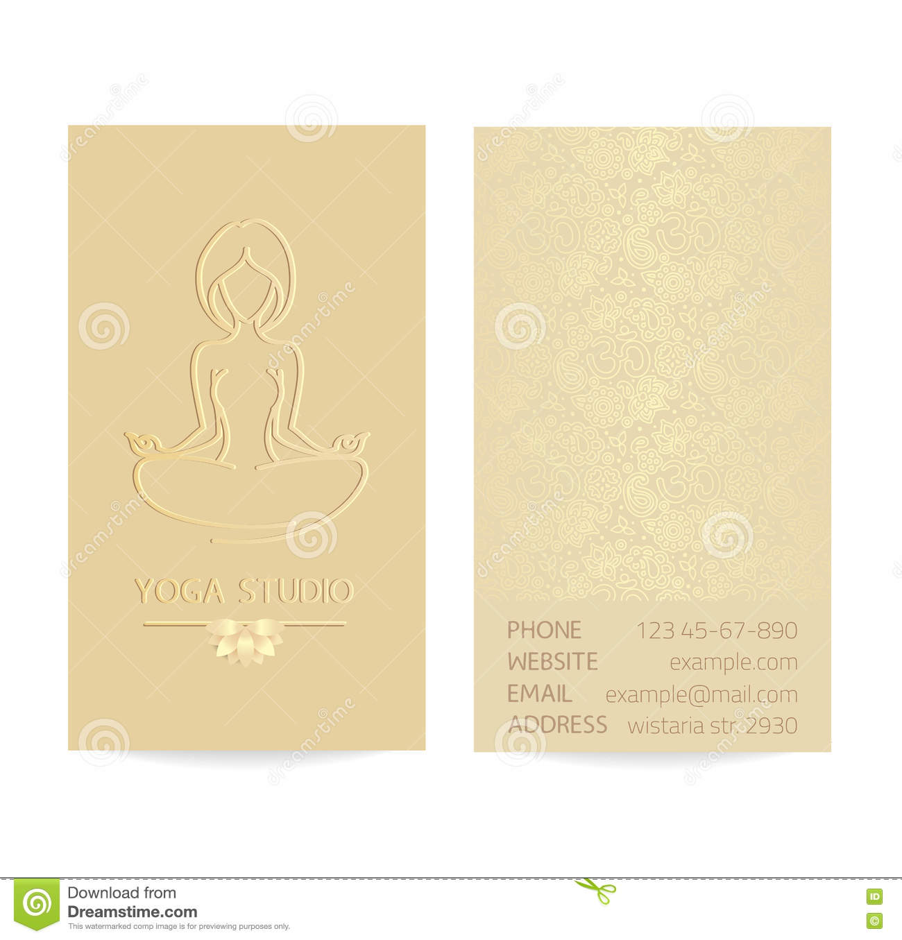 Business card set stock vector. Illustration of lotus - 63397662