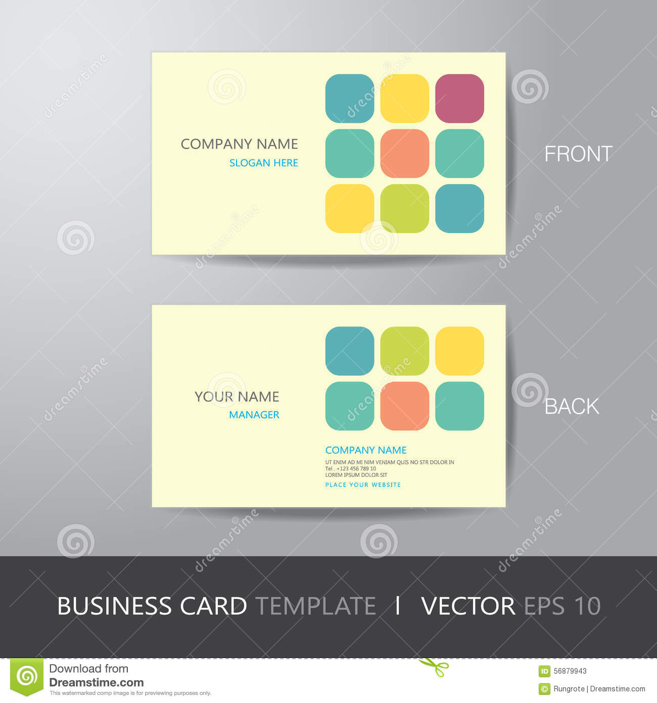 Business card square abstract background design layout template royalty free vector download business card square magicingreecefo Image collections