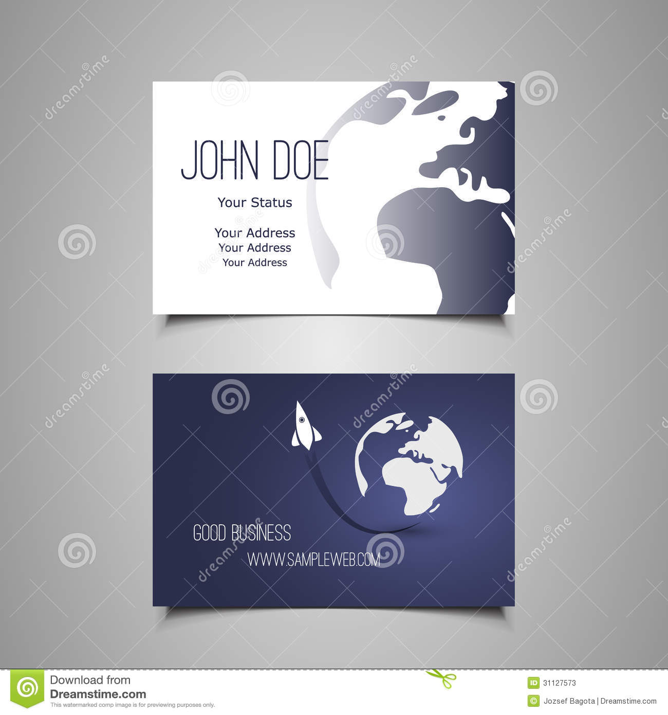 Business Card Template stock vector. Illustration of beauty - 31127573