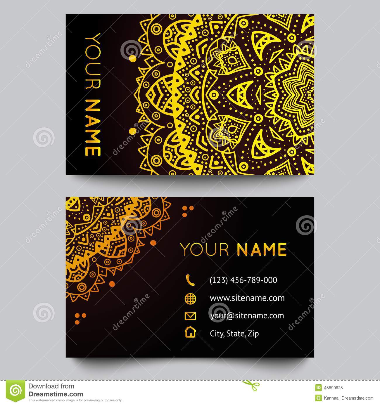 Business card template black and golden beauty stock vector business card template black and golden beauty cheaphphosting Images