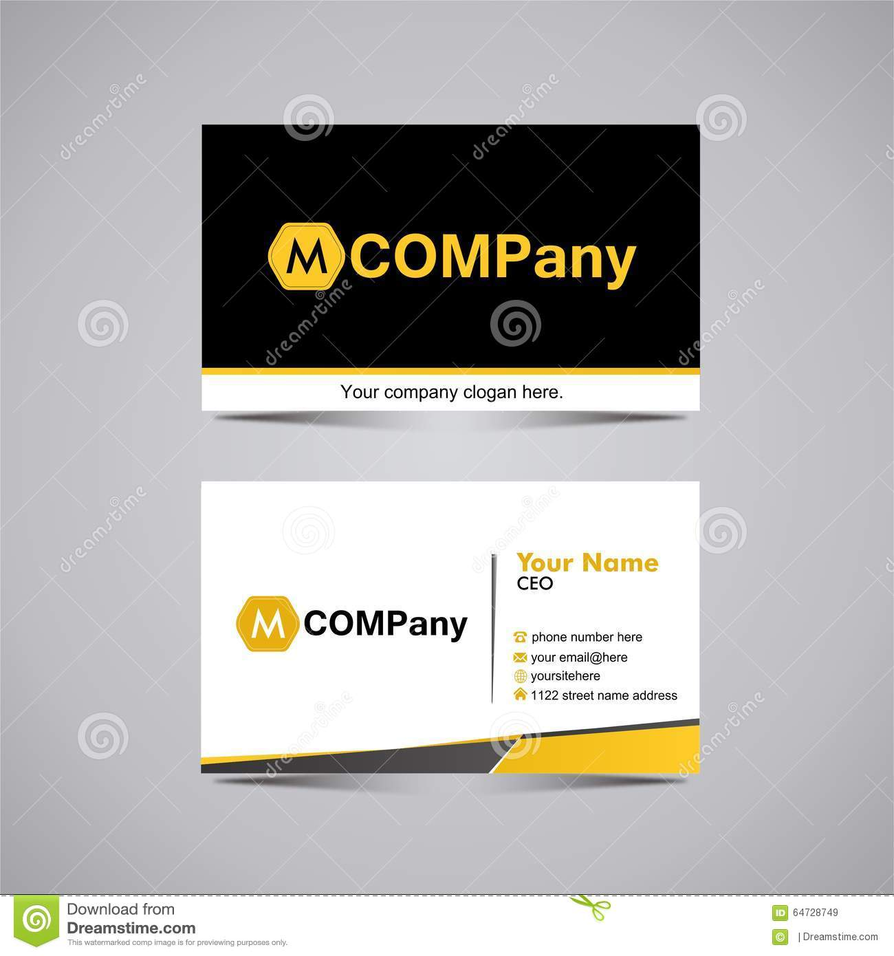 Business Card Template 6 Stock Image