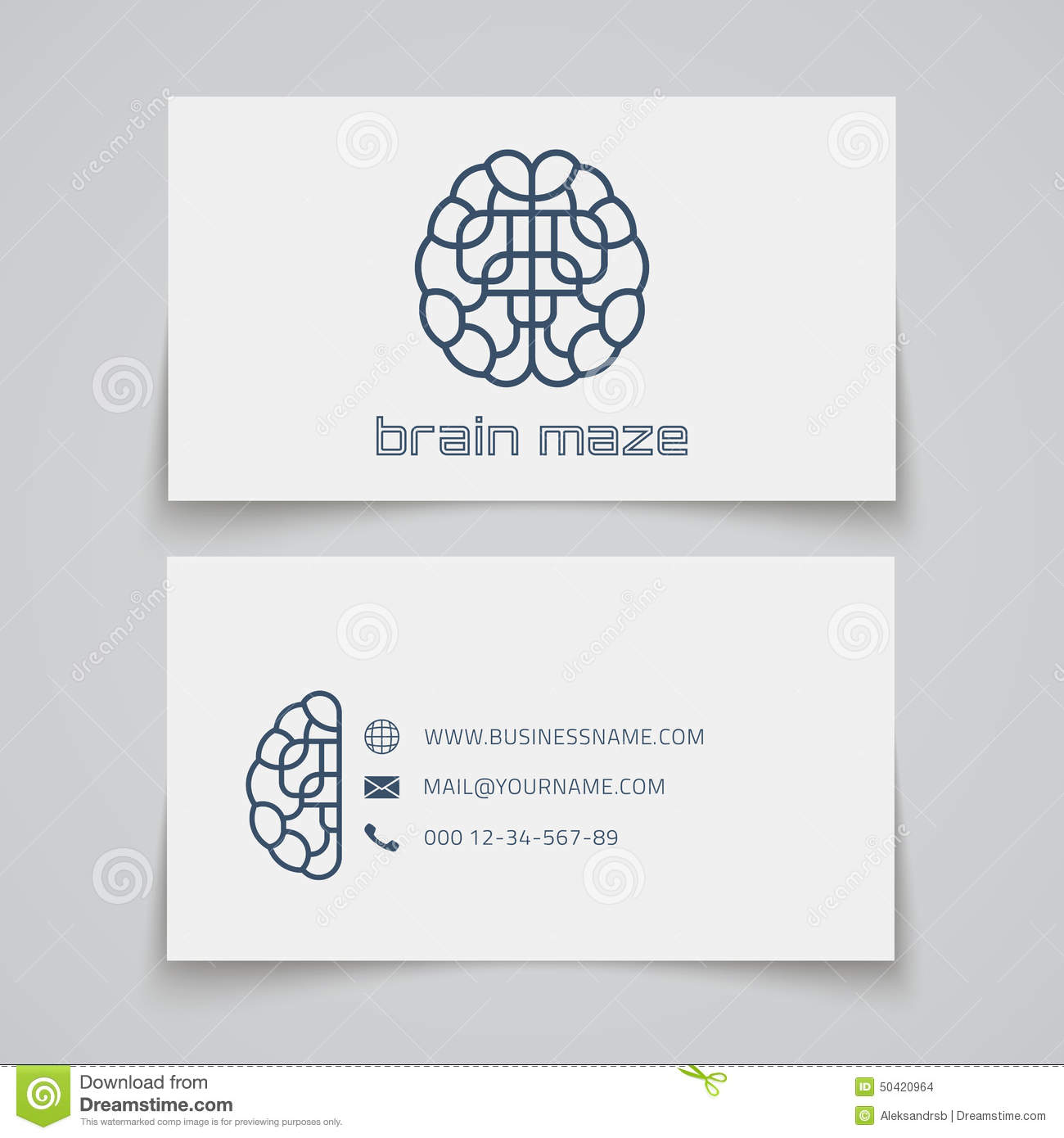 Business card template brain maze logo stock vector illustration business card template brain maze logo stock vector illustration of background letterhead 50420964 reheart