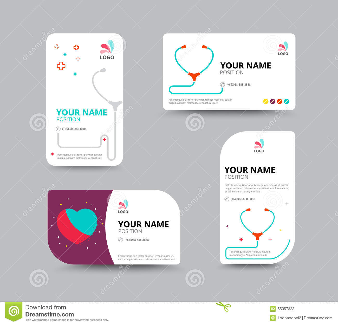 Business Card Template Business Card Layout Design Vector Illu – Business Card Template for Doctors
