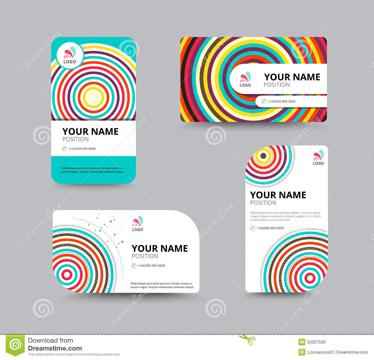 Business Card Template, Business Card Layout Design, Vector Illu ...