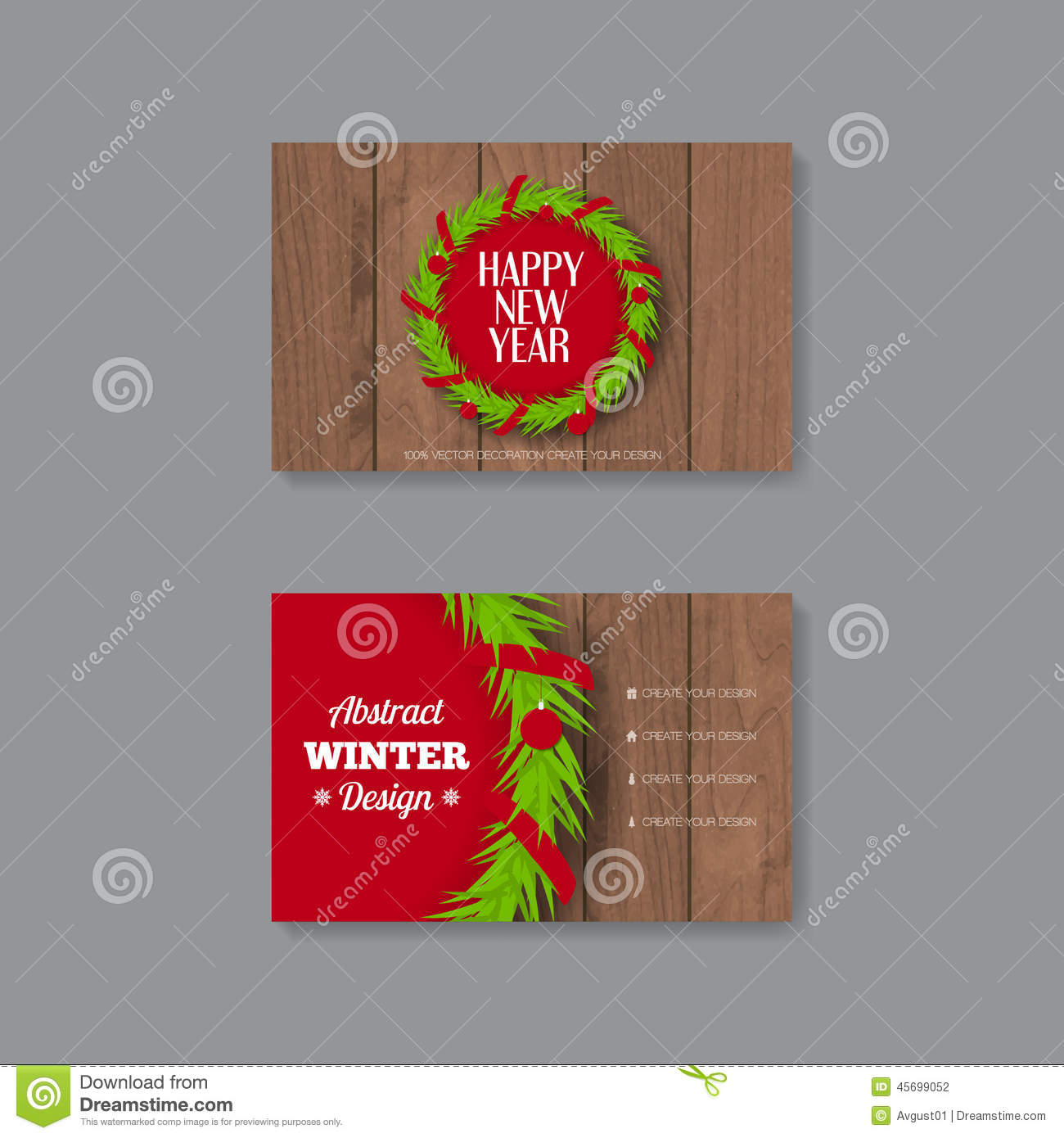 Business card template with christmas wreath stock vector download business card template with christmas wreath stock vector illustration of marketing abstract friedricerecipe Choice Image