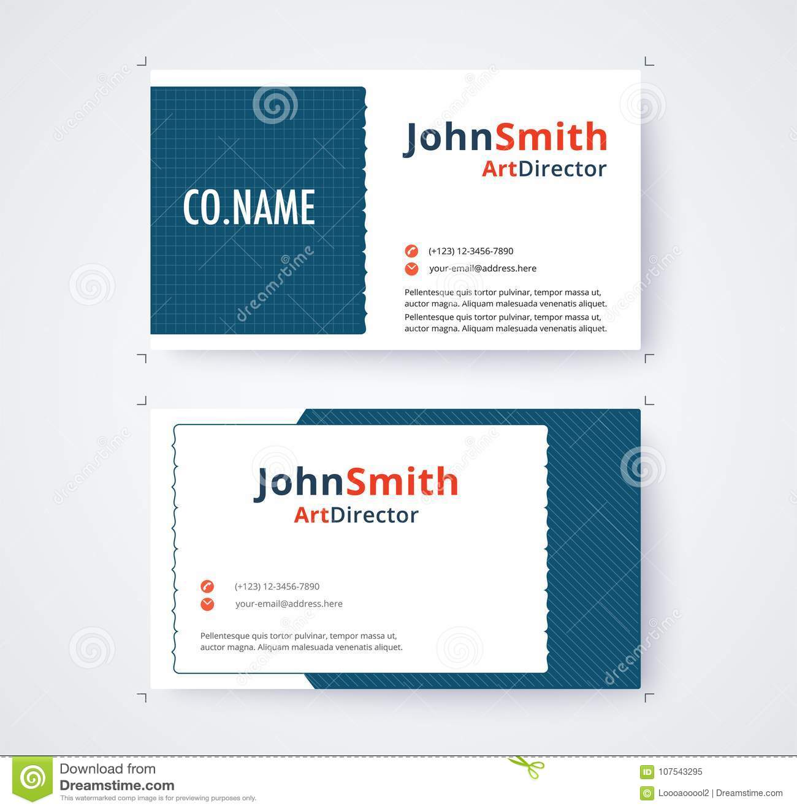 Illustrator Visiting Card Templates