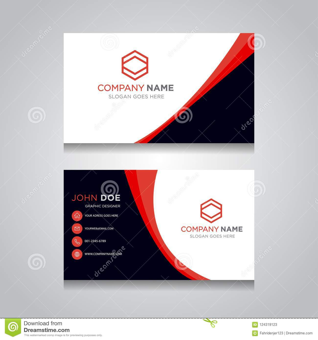 Business card template creative business card stock vector download business card template creative business card stock vector illustration of graphic identity cheaphphosting Choice Image