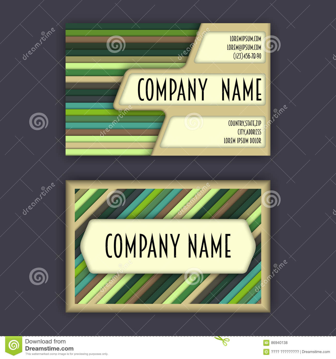 Business card template with 3d paper colorful lines stock download business card template with 3d paper colorful lines stock illustration illustration of geometry flashek Images