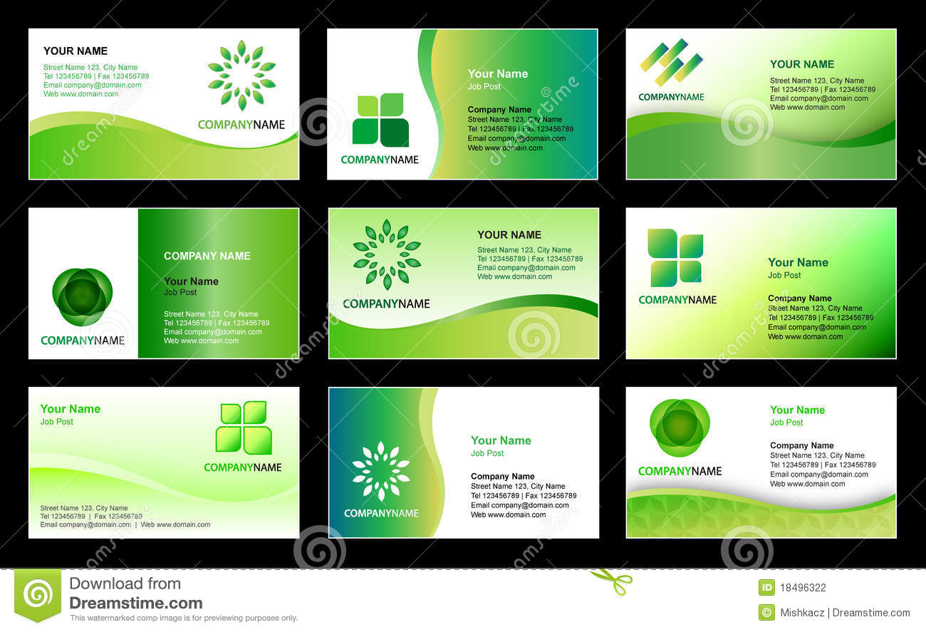 Business card template design stock vector image 18496322 for Free business card design templates