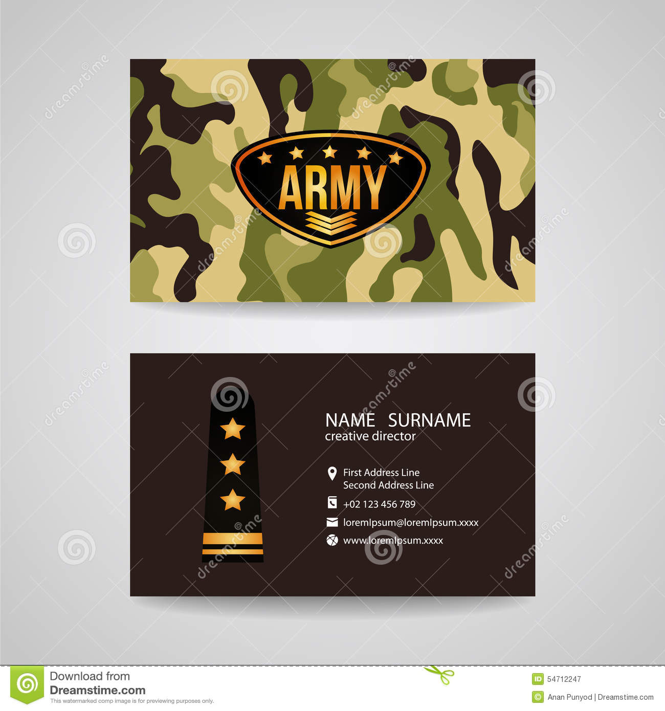 Business card template design for army and soldier texture stock business card template design for army and soldier texture wajeb Images