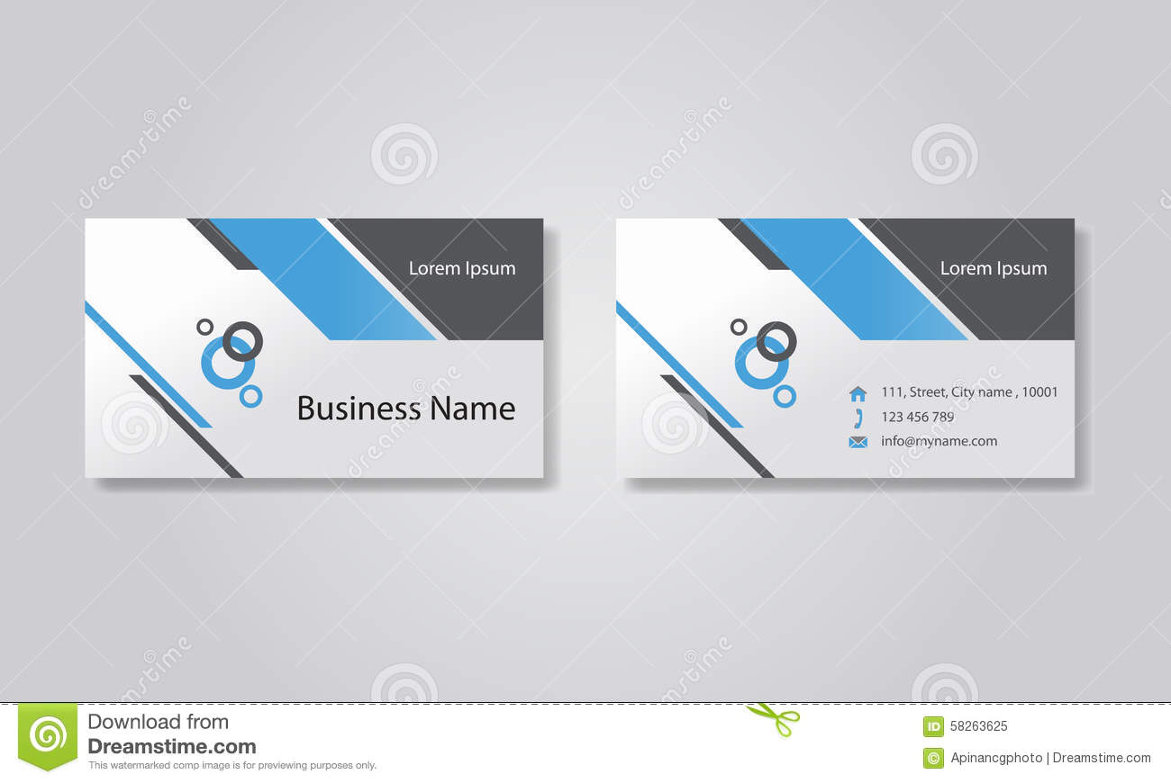 Business Card Template Design Backgrounds Vector Eps 10 Editable