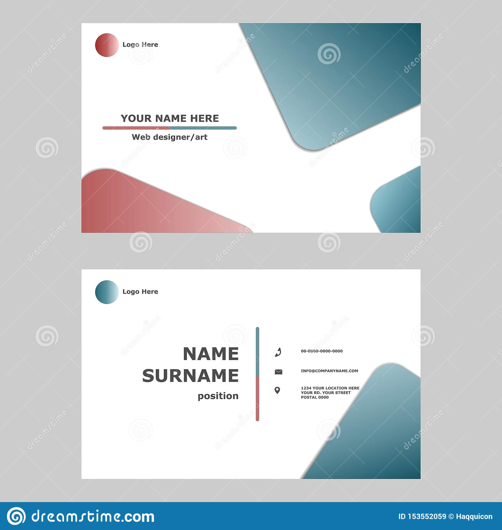 Business card template design concept.Illustration of vector graphic card .modern,simple and clean style design for professional c