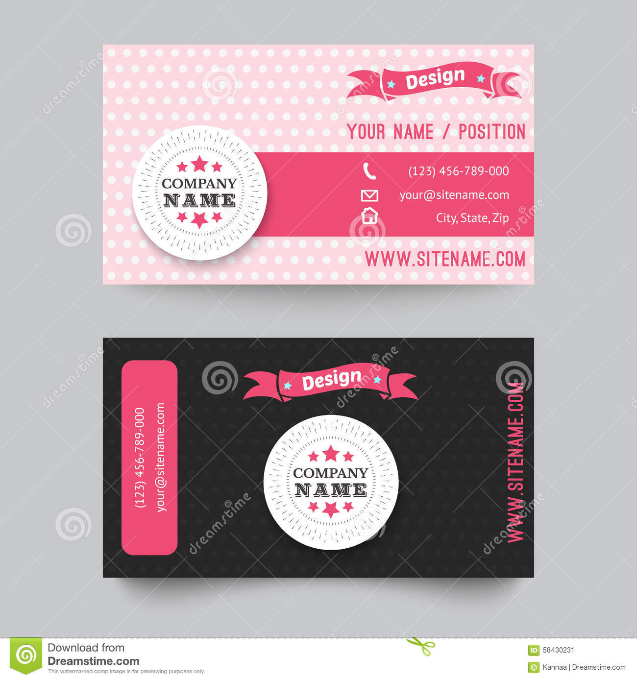 business card template design vector illustration stock vector illustration of ornament pink. Black Bedroom Furniture Sets. Home Design Ideas