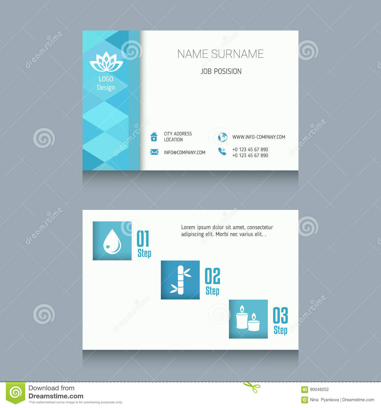 Business card template stock vector illustration of commercial download business card template stock vector illustration of commercial 90049252 reheart Images