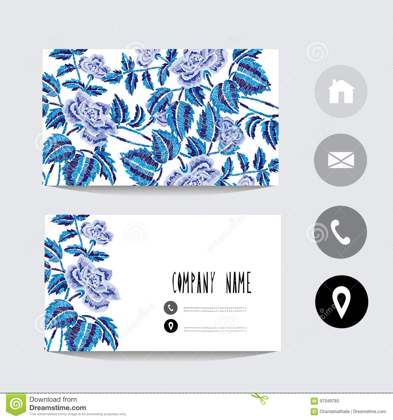 Business Card Template Stock Vector Illustration Of Artistic 97049785