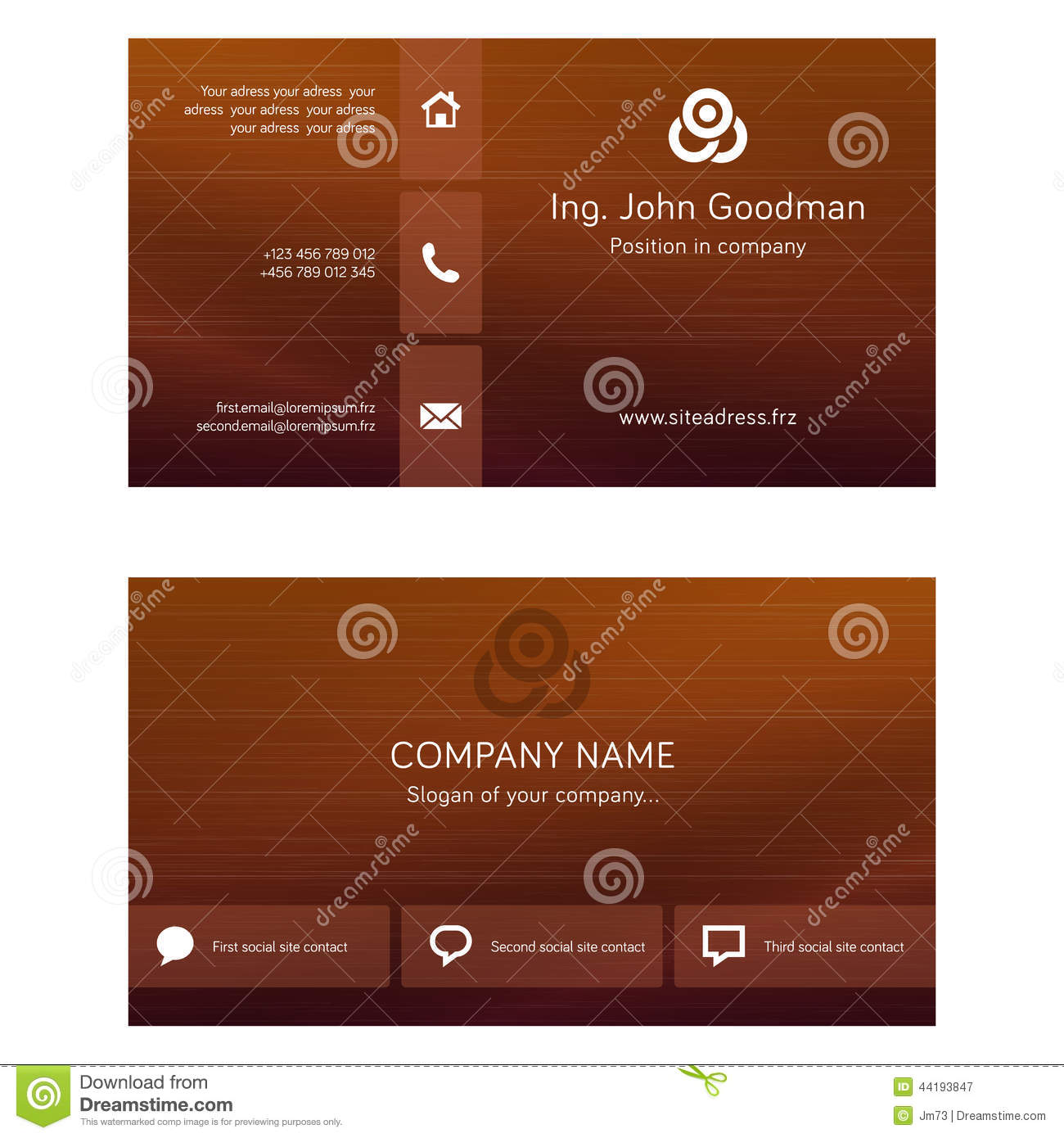 Business card template stock vector image 44193847 for Business card template eps