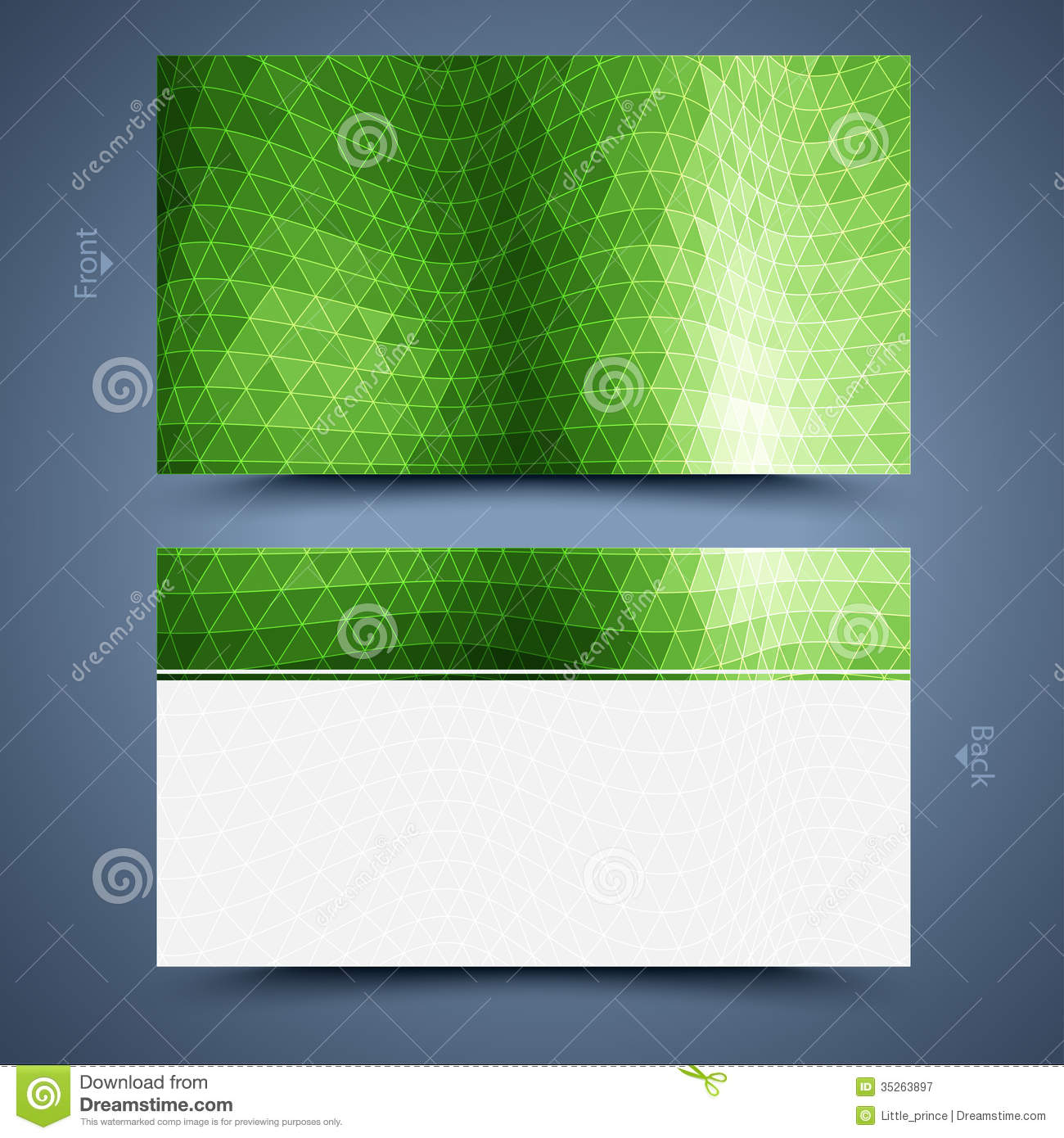 Green business card template abstract background stock vector green business card template abstract background fbccfo Image collections