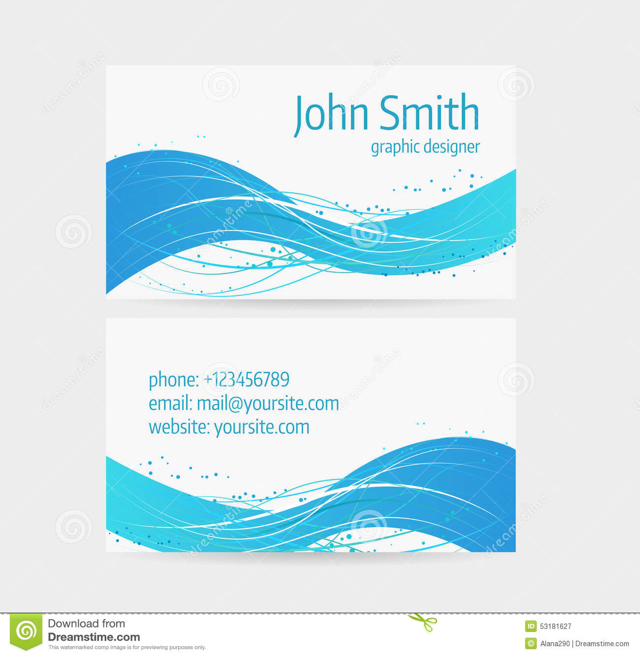 Business card template stock vector. Image of painting - 53181627