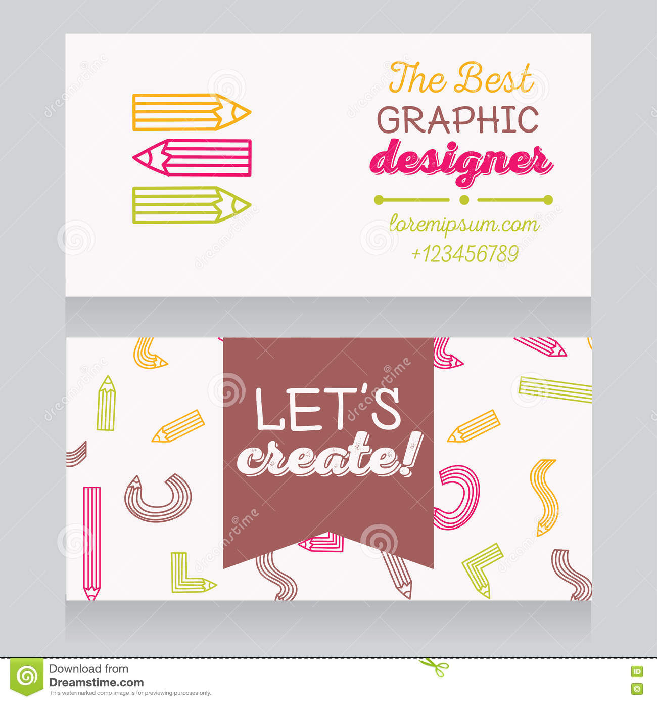 Business Card Template For Graphic Designer Or For Art Therapist/art ...