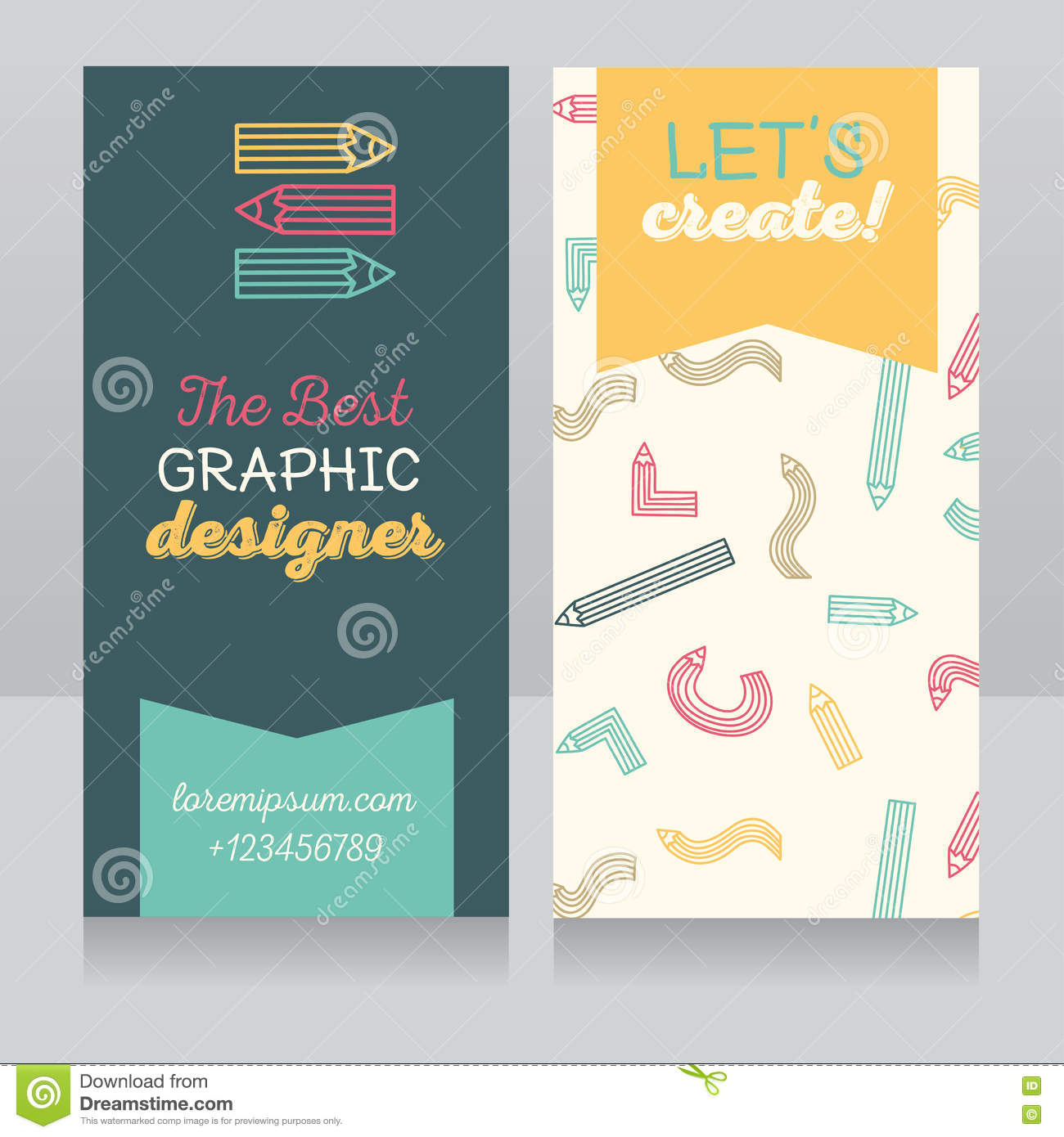 Business Card Template For Graphic Designer Or For Art Therapist ...