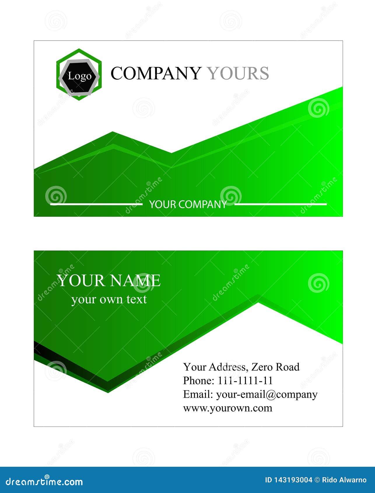 Business card template. green. vector